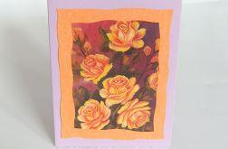 Kartka uniwersalna herbaciane róże