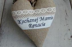 Lniane serce dla Twojej Mamy