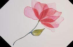 Kwiatek-akwarela formatu 25/25 cm
