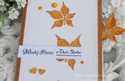 Ślubna kartka A6 w kopercie 01