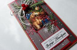 Kartka świąteczna z pieskiem