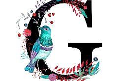 Alfabet G wydruk ilustracji