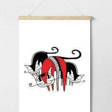 Plakat Crazy Cats