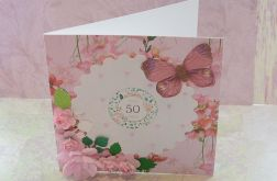 Kartka 50 urodziny + koperta