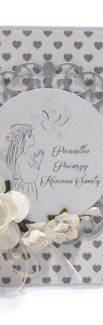 Pamiątka Komunii Św. dla Dziewczynki srebrna