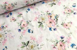 Tkanina bawełna- kwiat jabłoni