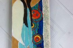 Ikonka Anioł w niebieskiej sukience