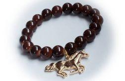 BRANSOLETKA  koraliki koń