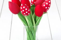 CZERWONE bawełniane tulipany
