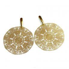 Kolczyki ażurowe, w kolorze złota Pasithea