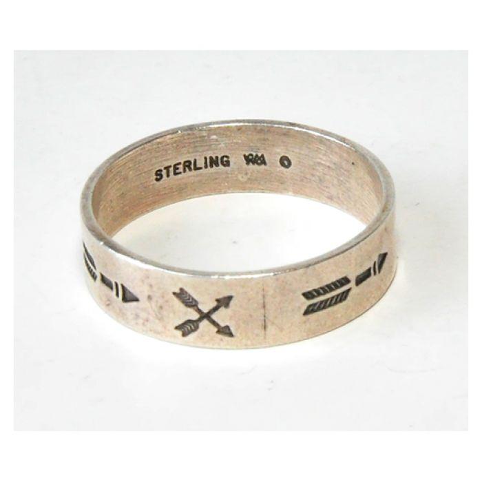 49 srebrna obrączka, obrączka vintage; wm
