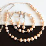 Złociste perły - naszyjnik - naszyjnik z pereł