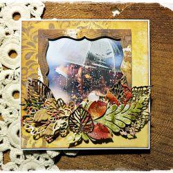 Jesiennie - kartka ślubna