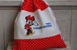 Minnie - worek na kapcie/strój