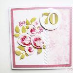 Kartka NA URODZINY cieniowane róże - Kartka na urodziny cieniowane róże