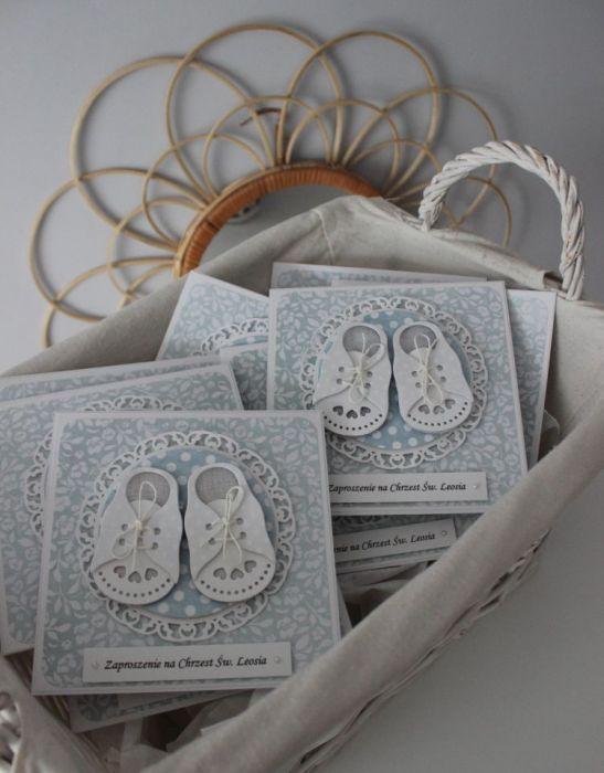 Zaproszenie Tiny Little Shoes - Buciki
