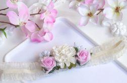 Nomma Opaska niemowlęca CHRZEST kwiatki 005