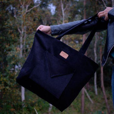 Torebka shopperka - Czarna piąteczka