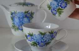 """Zestaw malowany do kawy 6 elementów ,,Niebieski klasyczny"""""""