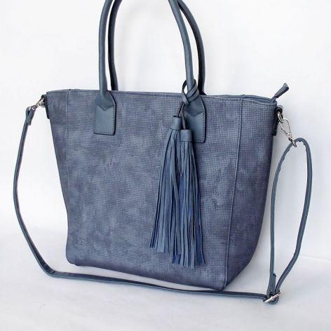 Shopper niebieski