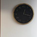 Zegar Betonowy Handmade Roman Grafit Złoto