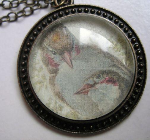Naszyjnik z ptaszkami