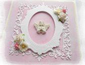 Pamiątka chrztu z małym aniołkiem różowa