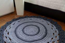 Dywan ze sznurka dywan na szydełku szary