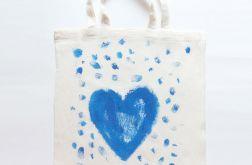 Bawełniana torba z serduszkiem nr2, eko torb