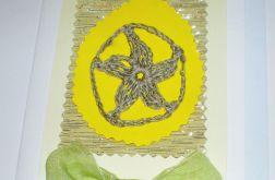 Kartka z szydełkowym jajem
