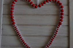 Koralowo - koronkowe serce