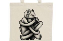 Zaplątanie - torba z nadrukiem ecru