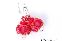 Kolczyki kuleczki różowe 2
