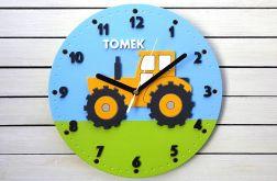 Zegar dla chłopca z traktorem i imieniem