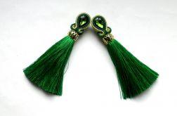 Kolczyki sutasz Zielone,  z Chwostem