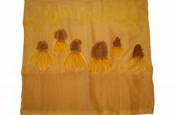 Chusta Jedwabna - jesienne kwiaty
