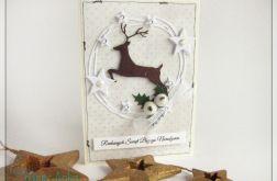 Kartka świąteczna z reniferem 14