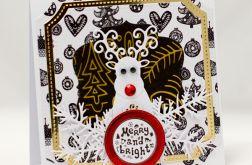 Renifer * Kartka świąteczna KBN1923
