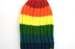 narciarska kolorowa czapka