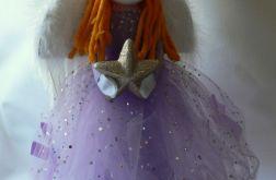 Fioletowy anioł z gwiazdą (duży)