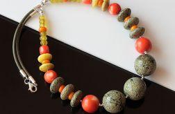 Serpentynit w kolorze - naszyjnik