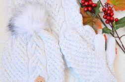 Komplet zimowy w kolorze śnieżnej bieli