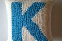 dziergana poszewka personalizowana K