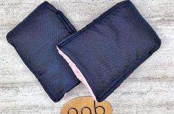 Mufki rękawiczki Granatowo-różowe