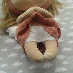ANIOŁEK lalka - dekoracja tekstylna, OOAK/24 - mam białe majteczki