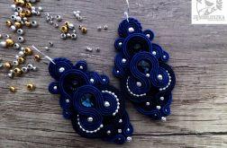 Kolczyki handmade sutasz kryształki swarovskiego soutache ślub od jemioluszka
