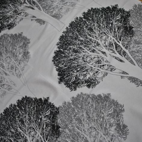 Orus 160 x 136 cm drzewa czarno-szare
