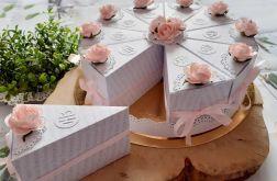 Podziękowanie dla Gości komunijnych - papierowy tort