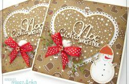 Piernikowa kartka świąteczna z bałwanem 3