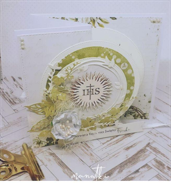 Pierwsza Komunia Pamiątka Karnet -